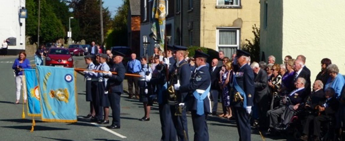 101 Sqn Standard party parade