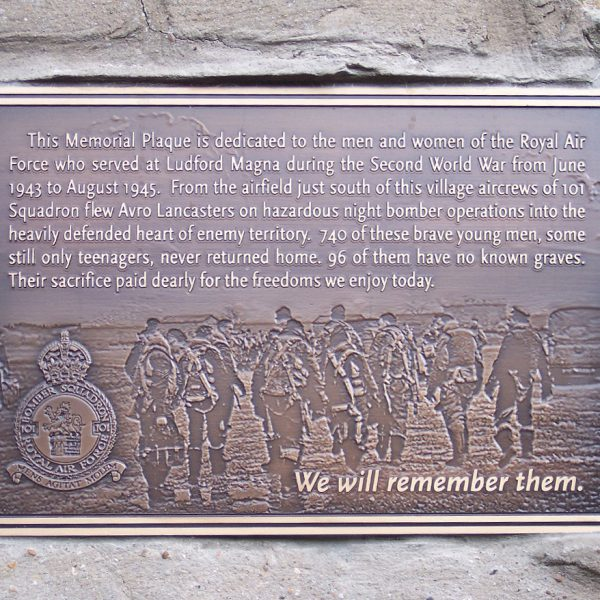 101 Squadron memorial plaque
