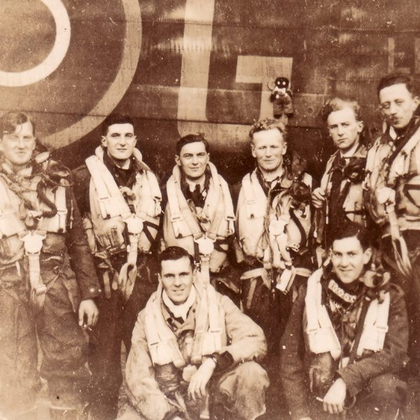 End of Tour Photo of F/O K. Fillingham (D.Goodliffe F/E) July 1944 in G-George