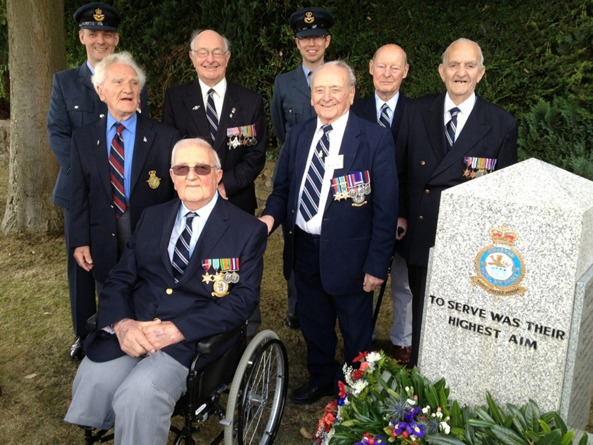 101 Sqn bosses gather with veterans at the Ludford Magna memorial