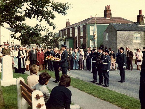 101 Squadron Memorial service, Ludford 1978