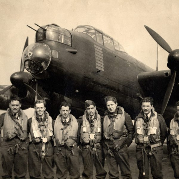 Bomber crew with Lancaster 1944