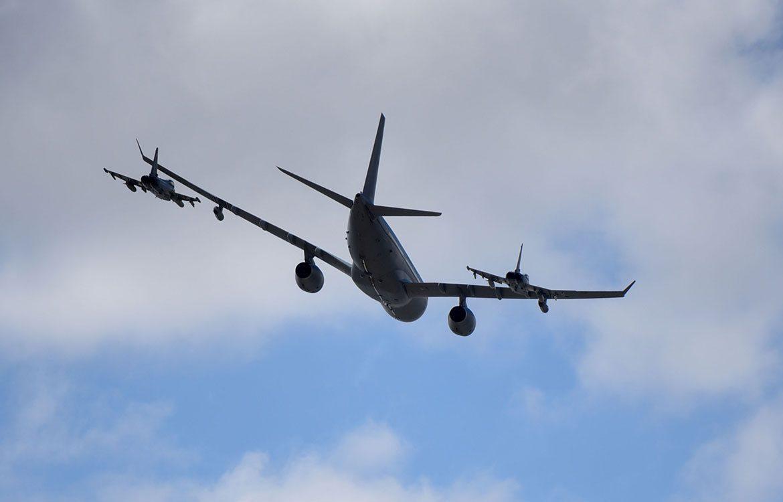 Centenary Celebrations : 101 squadron Voyager flyover