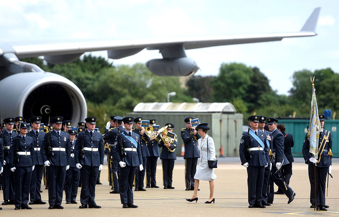 Centenary Celebrations : 101 Squadron meet with Princess Anne