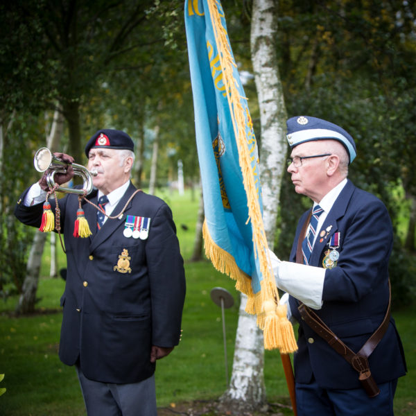 Association Standard bearer Mick Bath